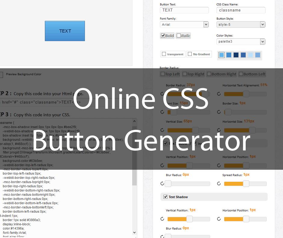 Online CSS Button Generator